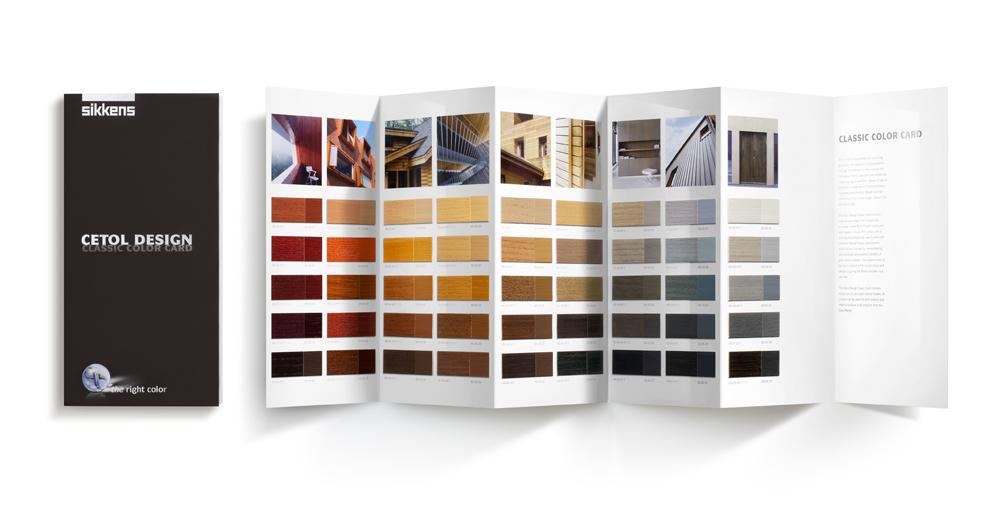 Classic colour chart - Sikkens Cetol Design - Studio Ninaber